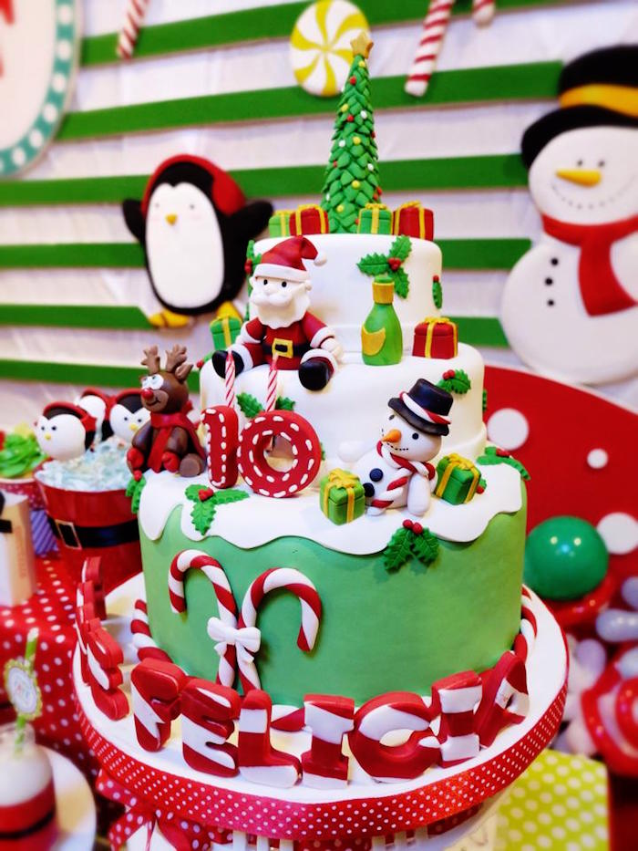 Christmas Themed Birthday Party Ideas Part - 21: Christmas Birthday Decorations Candy Party. Christmas Birthday Party Themes  Theme
