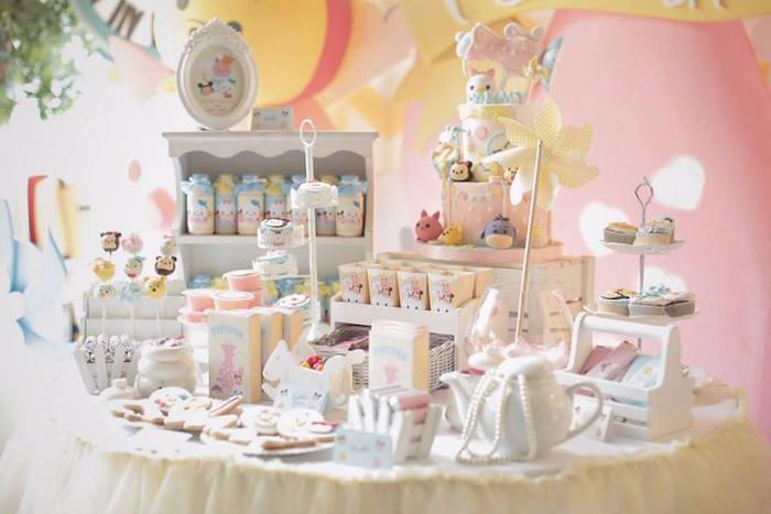 Karas Party Ideas Disneys Tsum Tsum Inspired Birthday Party
