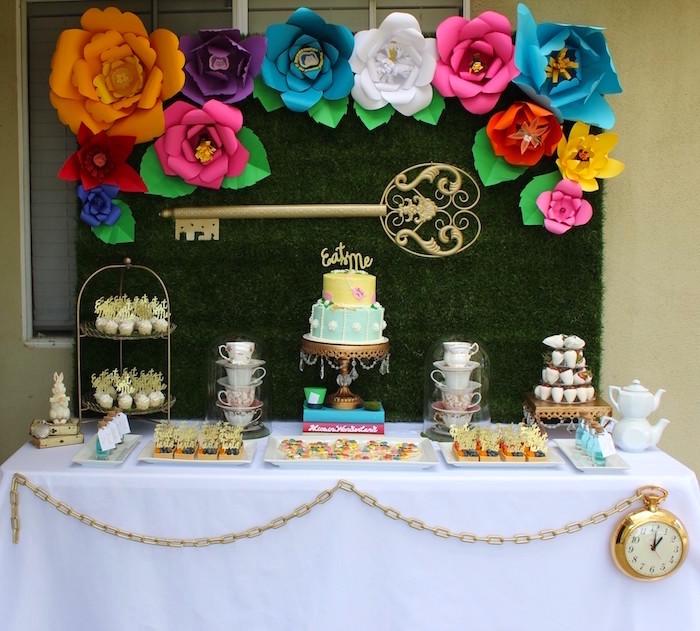 Karas Party Ideas Alice In Wonderland Dessert Table