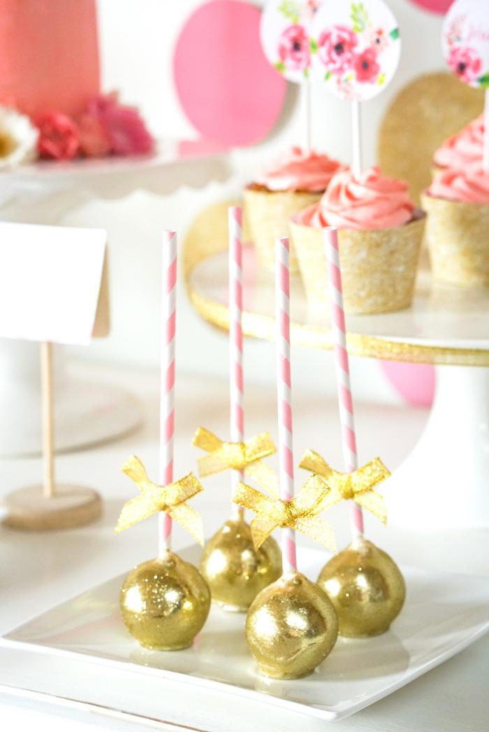 Karas Party Ideas Pink Gold Half Birthday Party Kara