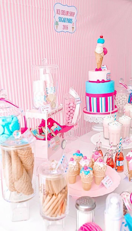 Kara S Party Ideas Ice Cream Shoppe Birthday Party Kara