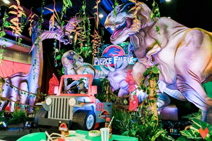 Karas Party Ideas Jurassic Park Themed Birthday Party