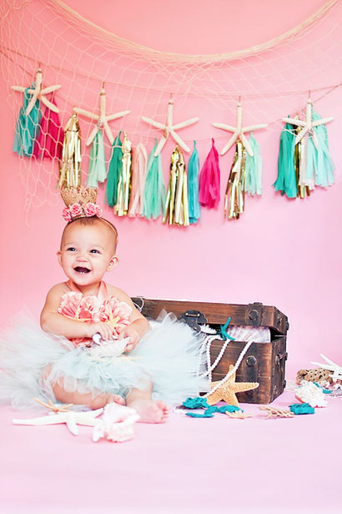 Kara S Party Ideas Littlest Mermaid 1st Birthday Party