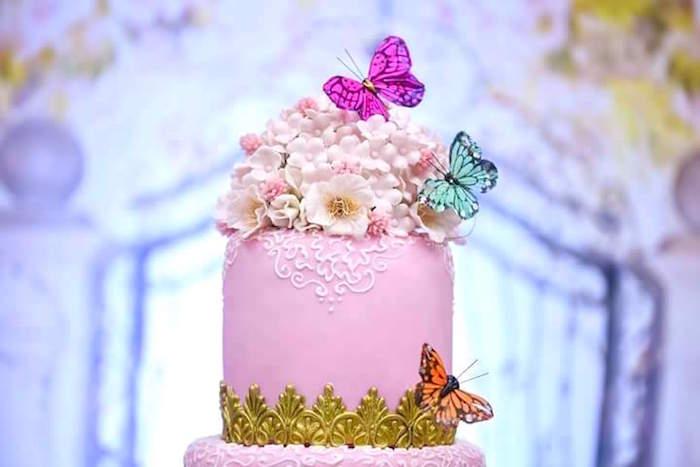 Kara S Party Ideas Pink Butterfly Garden Birthday Party