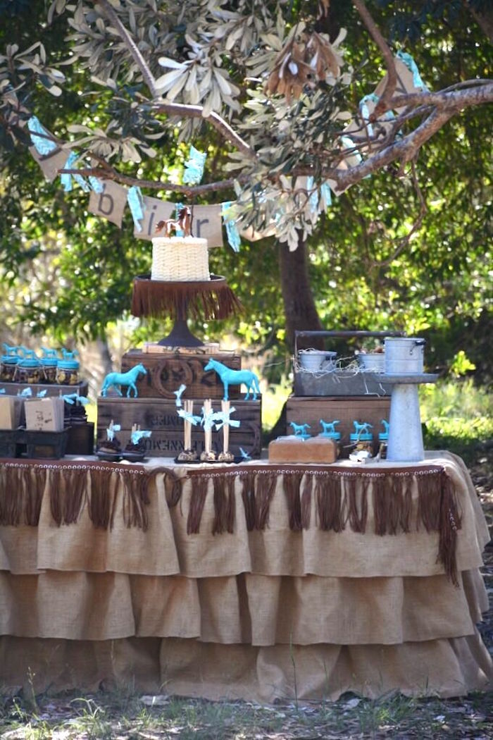 Kara S Party Ideas Rustic Horse Birthday Party Kara S