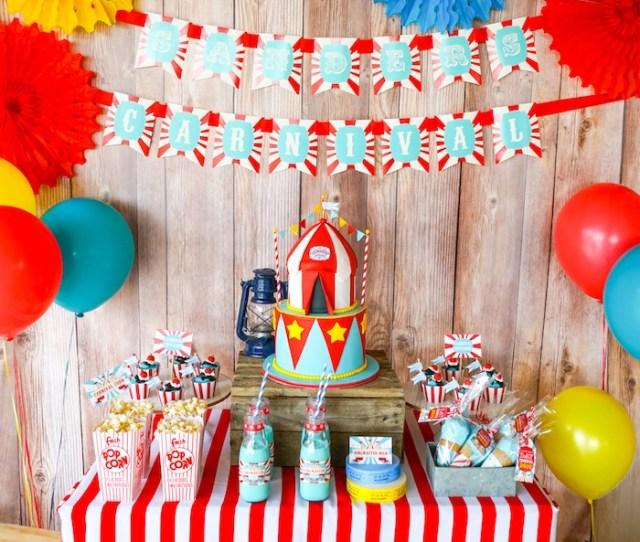 Dessert Table From A Backyard Carnival Party On Karas Party Ideas Karaspartyideas Com