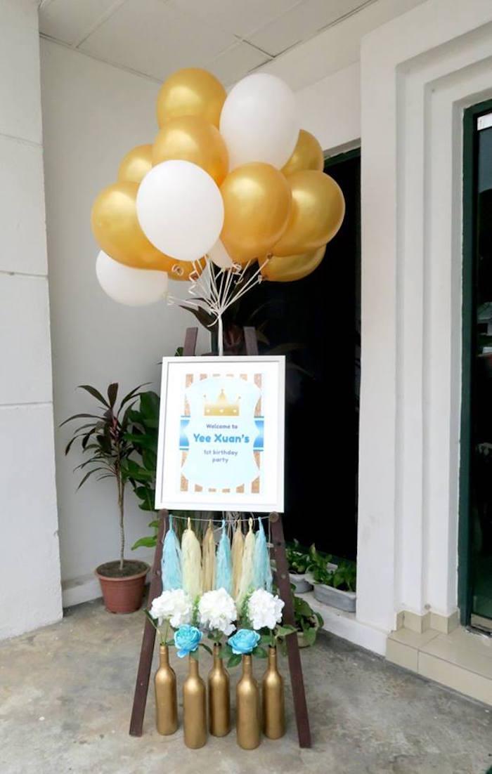 Kara S Party Ideas Royal Prince First Birthday Party