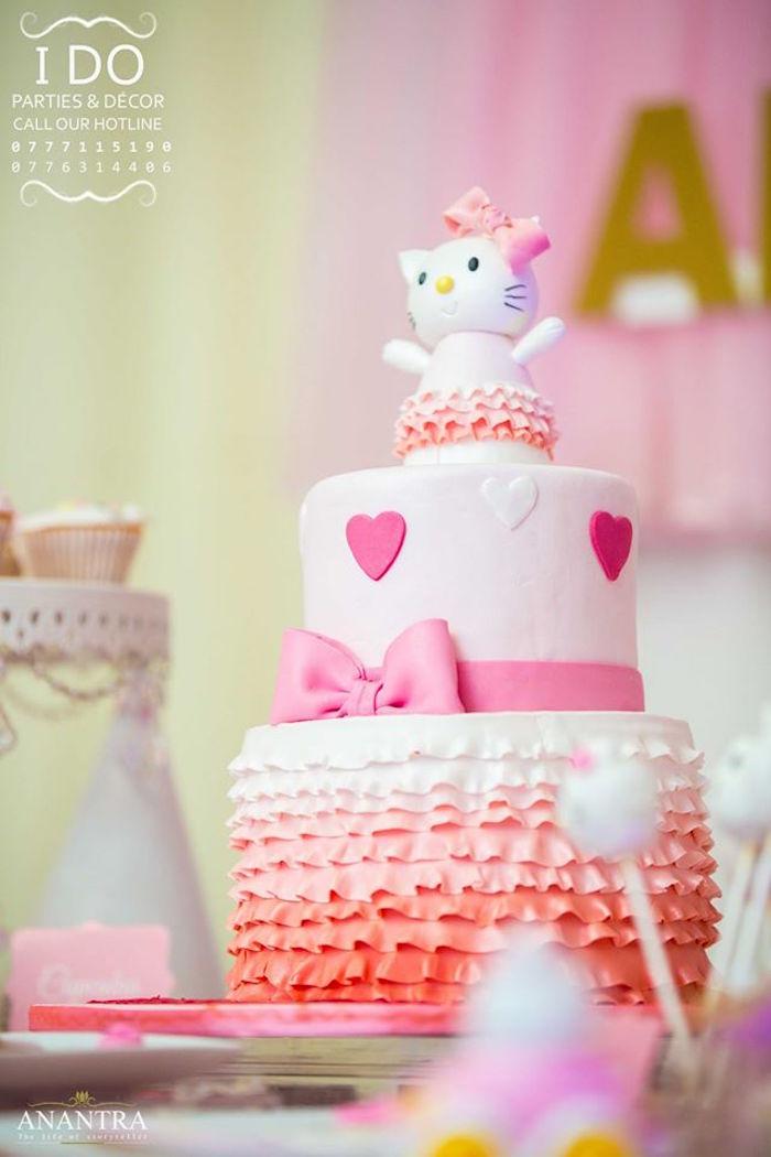 Kara S Party Ideas Ruffled Hello Kitty Birthday Party