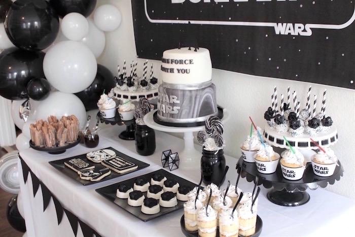 Karas Party Ideas Monochromatic Star Wars Birthday Party