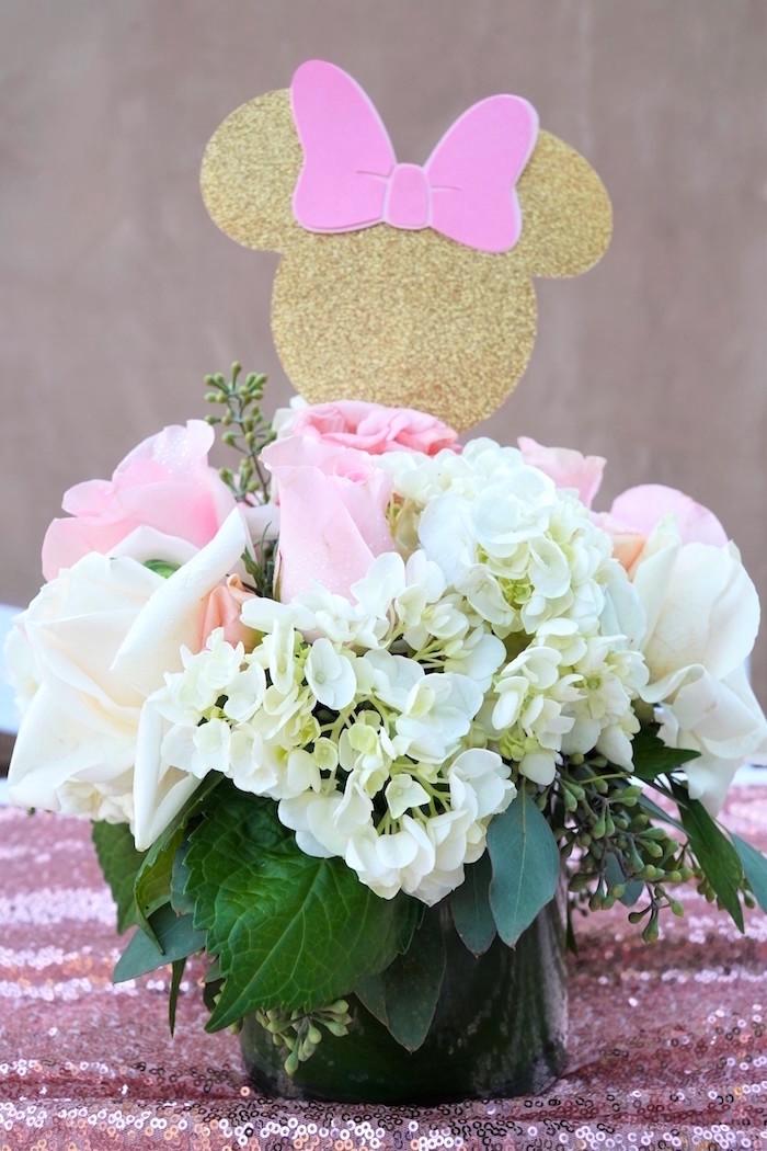 Kara S Party Ideas Glamorous Floral Minnie Mouse Birthday