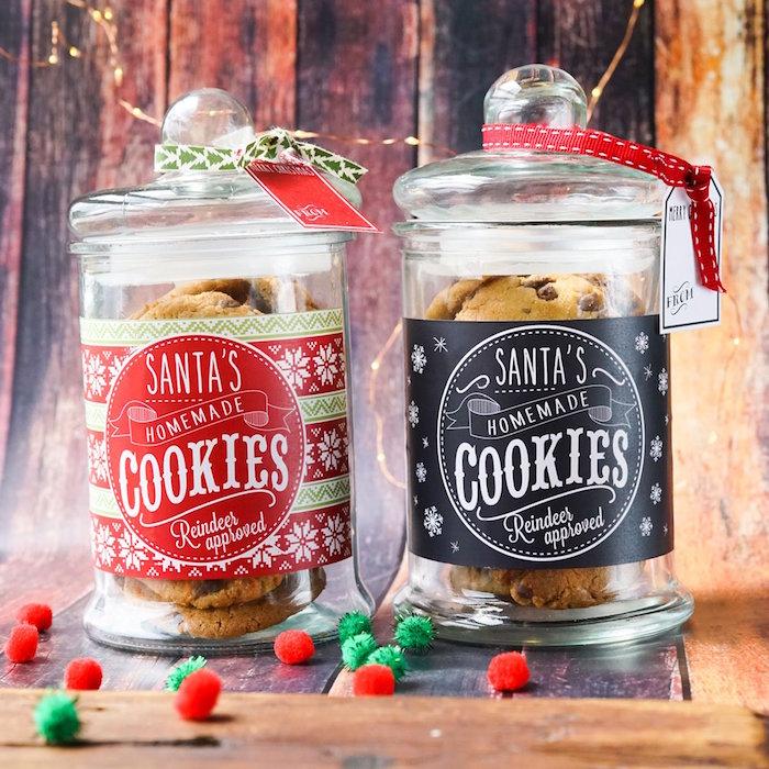 Karas Party Ideas FREE Printable Christmas Cookie Jar