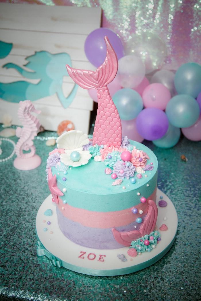 Karas Party Ideas Shimmering Mermaid Birthday Party Karas Party Ideas
