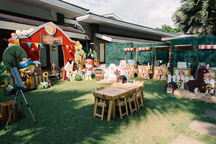 party ideas farm animal birthday party