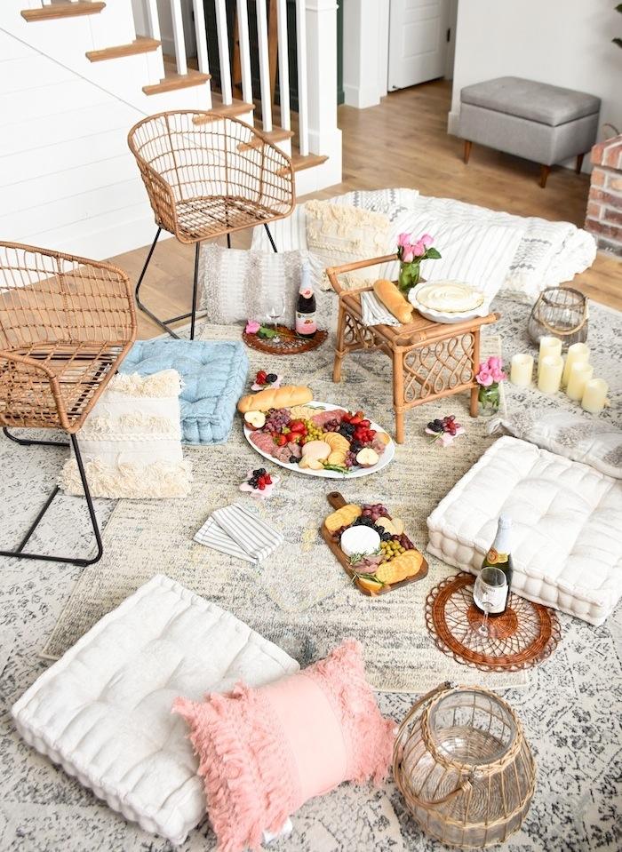 indoor living room picnic
