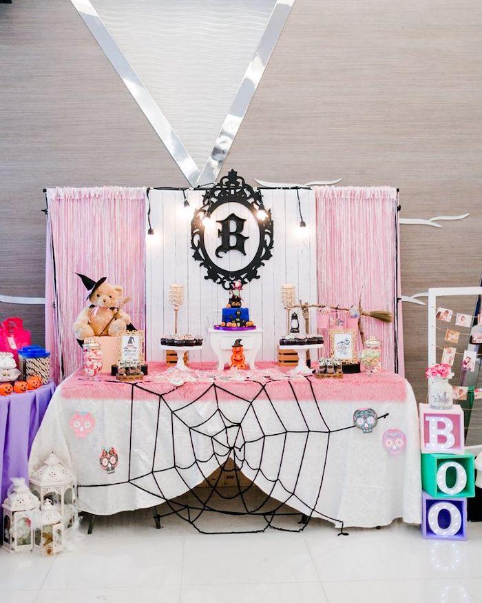 Girly Halloween Dessert Table from a Hocus Pocus Halloween Birthday Party on Kara's Party Ideas   KarasPartyIdeas.com (19)
