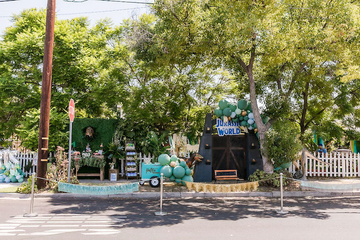 Rawrsome Dinosaur Drive-By Birthday Parade on Kara's Party Ideas   KarasPartyIdeas.com (6)