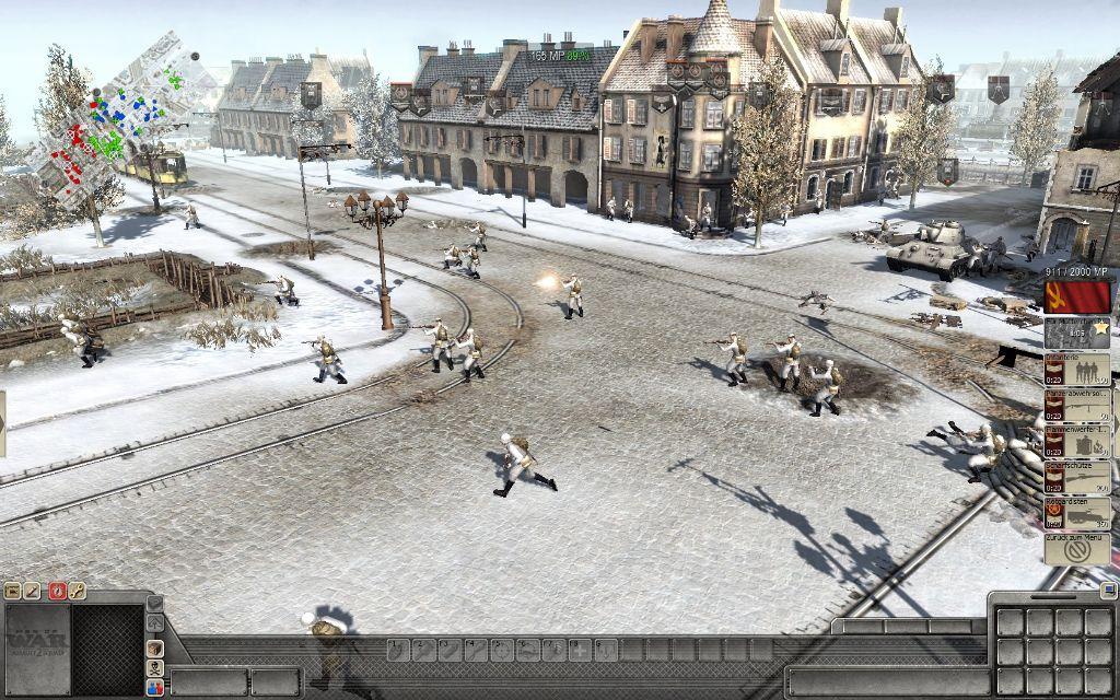 Teilweise stehen in den Missionen Spezial-Fähigkeiten zur Verfügung. Hier im Bild zu sehen ist der Infanterie Sturm der Russen.