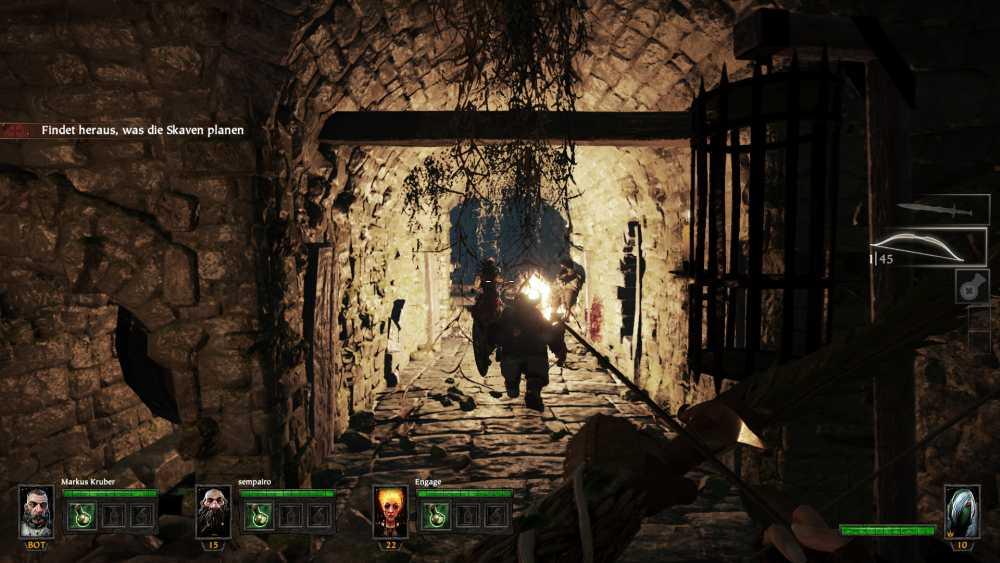 Besonders das Spiel aus Licht und Schatten beherrscht Warhammer: The End Times - Vermintide sehr gut