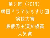 第2回(2018)韓国ドラマあらすじ団演技大賞 最優秀主演女優賞・人気賞 投票ページ