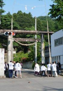 2011 山あげ祭 お注連立式(おしめだてしき)
