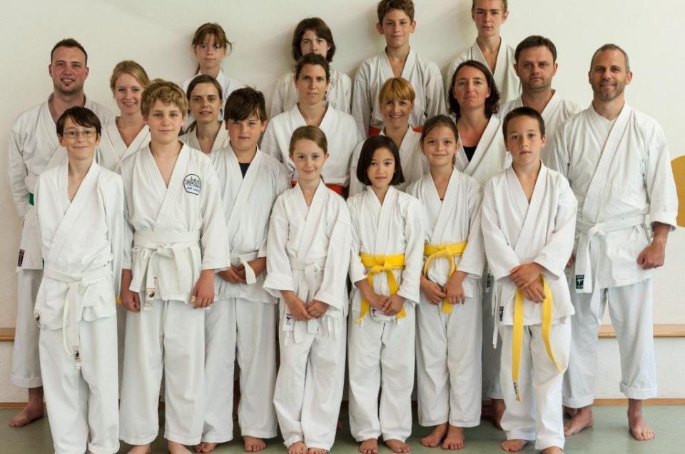 Kyu-Prüfung am 7.7.2012 der Karateka des Dojo Shotokan