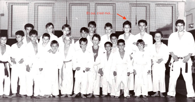 Le sporting club Algrange , cours enfant 1987 - Entraîneur, Claude Tramonti