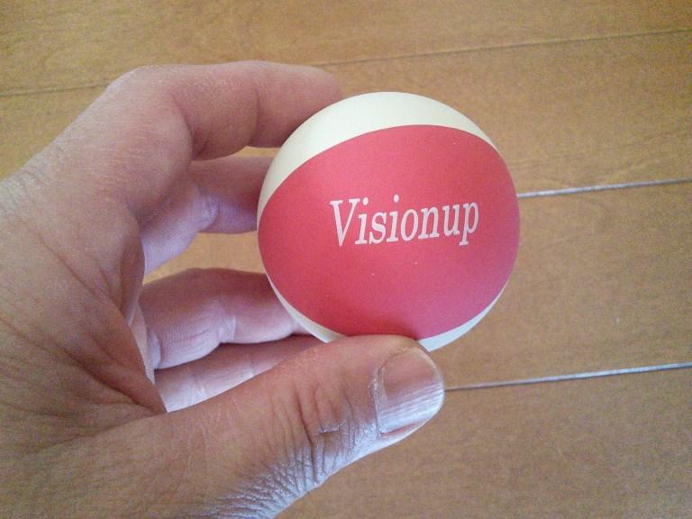 Visionup(ビジョナップ)付属のゴムボール。