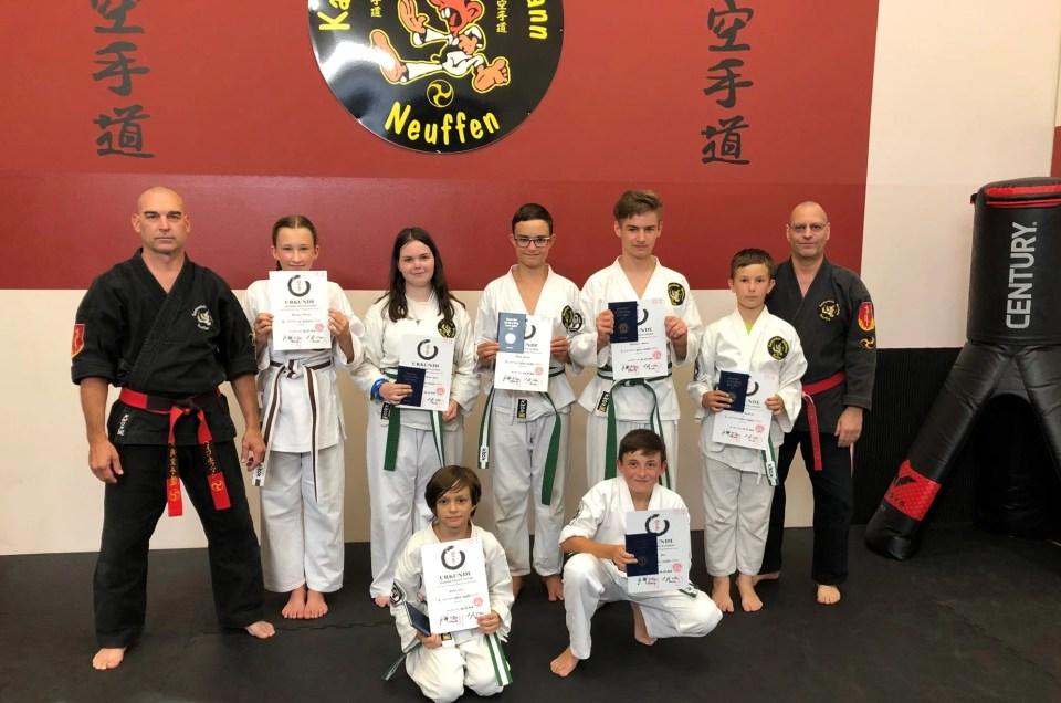 Karate Jugendprüfung am 03.07.2019