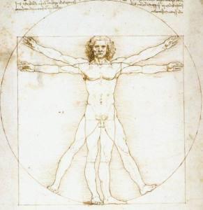 Hombre de Vitruvio de Leonardo Da Vinci y las divinas proporciones