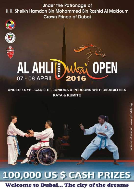 Al Ahli Dubai Open 2016 poster