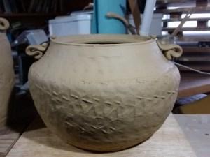Karatsu meets pueblo water jar. sorry for the order here...