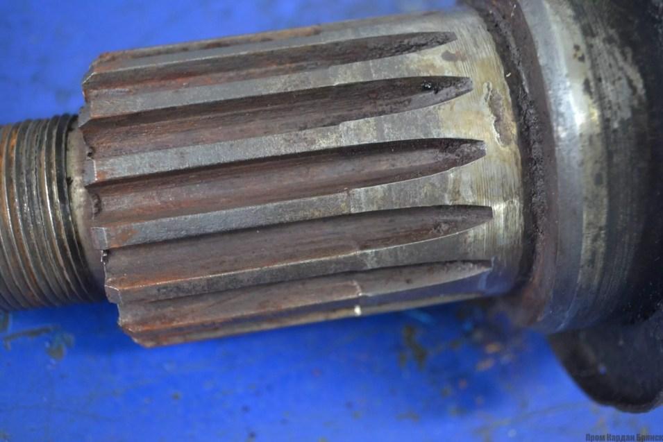 Замена шлицевой пары кардана