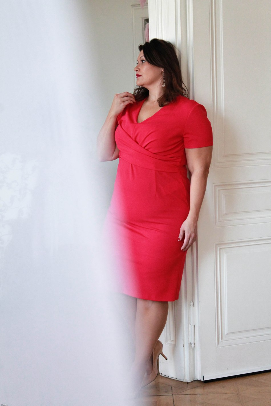 lady in magenta - 1 kleid 2 looks - plus size fashion