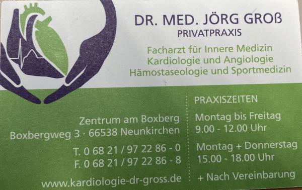 Visitenkarte Dr. med. Jörg Groß