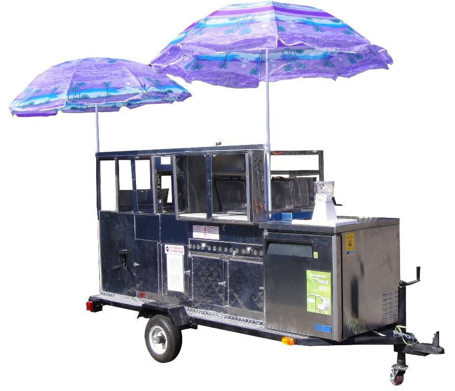 Hot Dog, Fruit, Snack Combination Cart