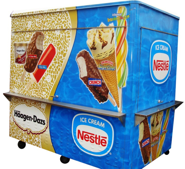 pre-packed ice cream