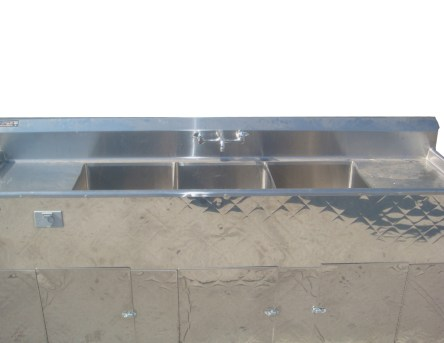 Portable Sink Top View