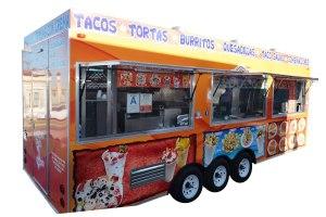 Tacos trailer - open windows