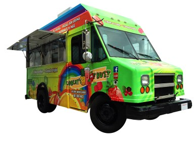 Snow Cones Food Truck, front view
