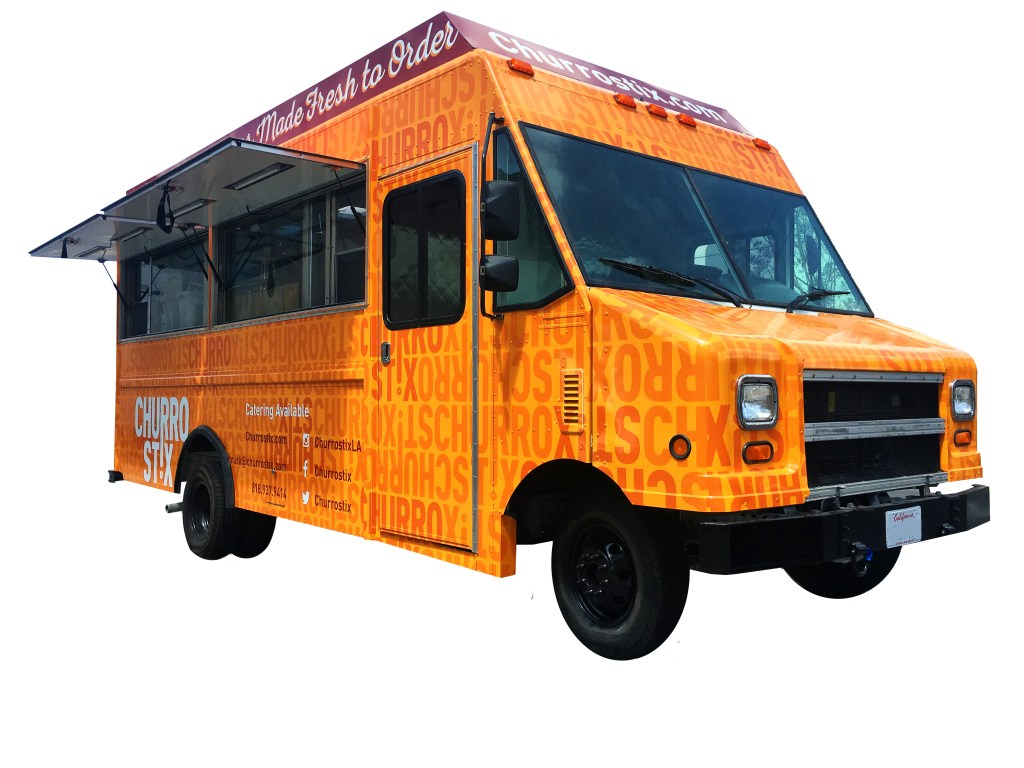 Churros Truck with the open windows