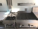 open top burners and char broiler