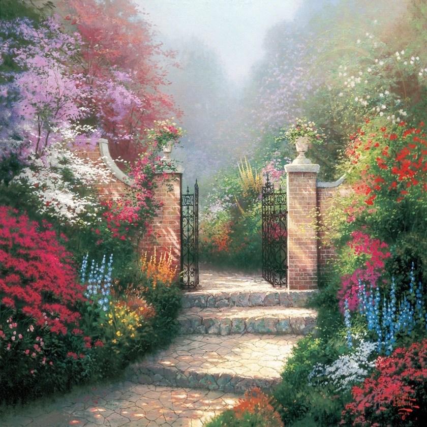 Thomas Kinkaide 1992 Victorian Garden Luminism