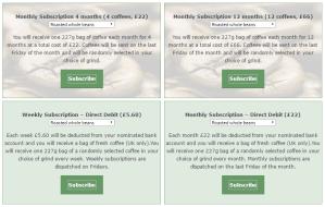 Green Bridge Organics Subscriptions Page