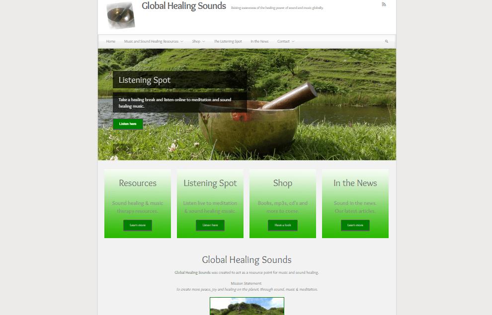 Global Healing Sounds Desktop Screenshot