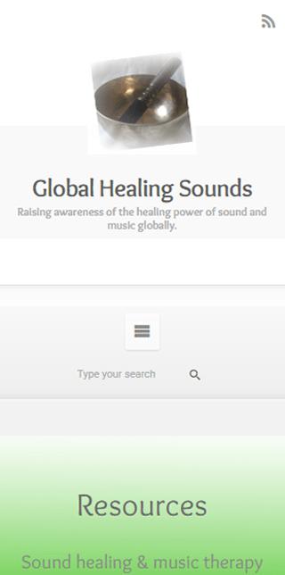 Global Healing Sounds Mobile Screenshot