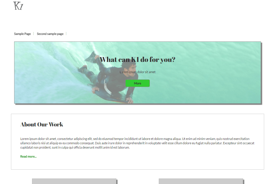K1 Desktop Screenshot