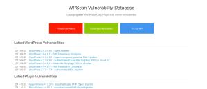 WPScan's vulnerability database