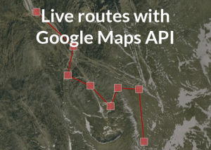 Live routes with Google Maps API