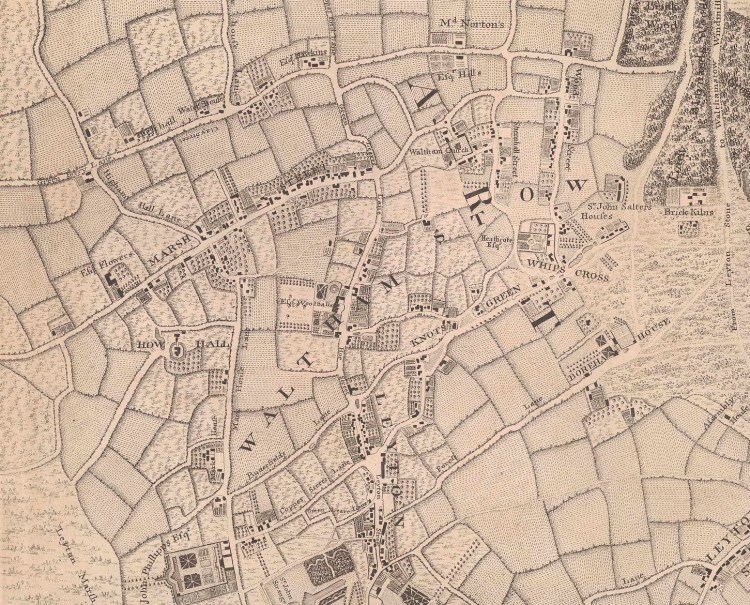John Rocque: An Exact Survey of the citys of Lodnon London Westminster ye Borough of Southwark and the Country near ten miles round, 1741