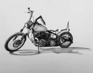 Zeichnung Harley Davidson